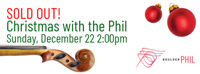 SOLD OUT! Christmas with the Phil @ Mountain View United Methodist Church | Boulder | Colorado | United States